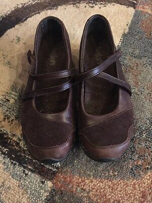 Skechers Brown Leather & Suede Slip On Shoes Sz 6