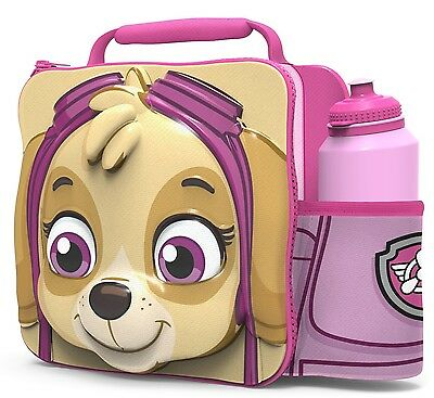 Official Paw Patrol Thermal 3D Skye Lunch Bag Box & Drink Bottle Set - 86759