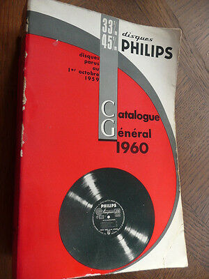 Disques Catalogue General Philips 33 45 Tours Octobre 1960 Records 1300 Pages