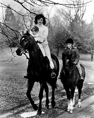 First Lady Jacqueline Kennedy rides horses with children 1962 New 8x10 Photo