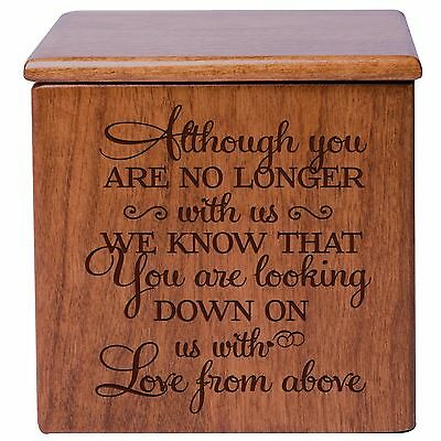 Cremation Urn For Human Ashes Small Memorial Keepsake Box (17 cubic inches)