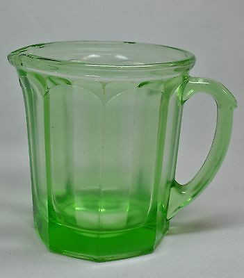 Vaseline Green Uranium Glass Small Panel Pitcher