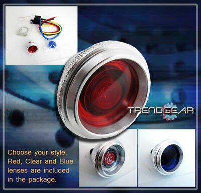 Engine Start Starter Button Switch Blue/Red/Clear Lens