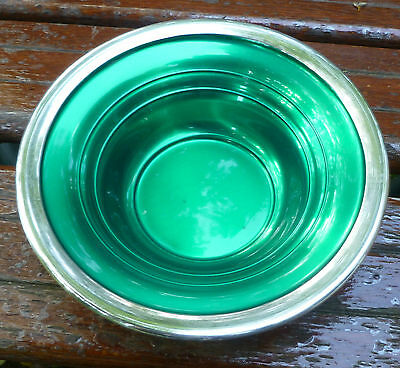 International Sterling Green Enamel Silver Bowl 10848-2