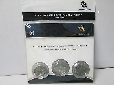 2011 US Mint America the Beautiful 3 Coin Quarter Set