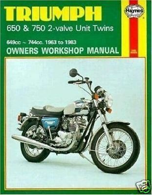Triumph 650 750 Bonneville 63-83 Haynes Manual 0122 NEW