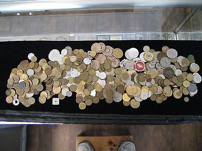 Tokens, Wooden Nickels, Game, Transit and Others - Over - 6 1/2 LBS
