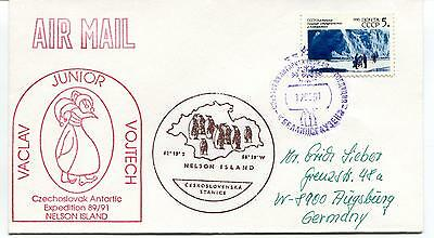 1991 Vaclav Junior Vojtech Chechoslovak Antarctic Nelson Island Polar Cover