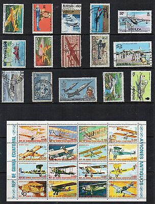 AIRCRAFT AVIATION Thematic STAMP Collection majority USED  RE:TS221