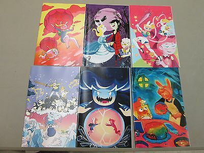 ADVENTURE TIME WITH FIONNA AND CAKE 1 2 3 4 5 6; Ward 1st print 1:15 variant set