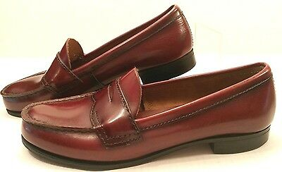 Vtg USA Bass Leather Penny Loafers Slip-On Shoes Wine Cordovan Size Women's 8M