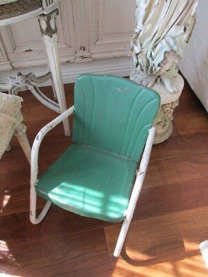 THE BEST Vintage CHILD'S GARDEN CHAIR Metal Just Adorable!
