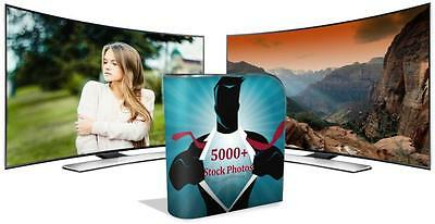 5000 Royalty Free Stock Photos of Animals Food People Fitness on DVD