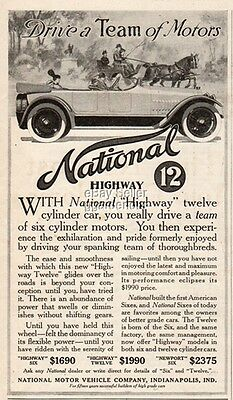 1915 National Motor Vehicle Co Indianapolis IN Car Auto vintage print Ad