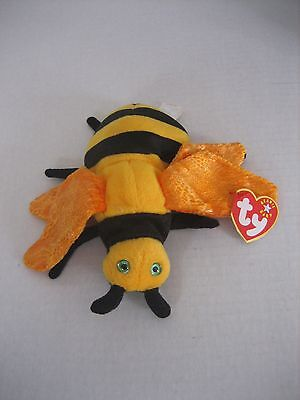 Ty Beanie Baby Collection Buzzie The Bee Oct 20 2000 Plush Stuffed Animal NWWT