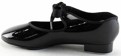 New With Box Girl's CAPEZIO Black Tap Shoes Size 5 M