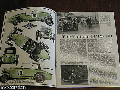 Talbot 14/45 - 110 1926-1935, well illustrated booklet Profile 27, FREE POSTAGE!