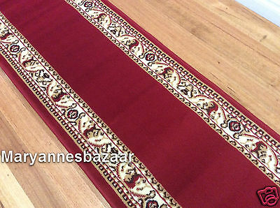 Hallway Runner Hall Runner Rug 8 Metres Long Classic Red Black FREE DELIVERY