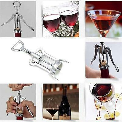 Multi Function Cork Screw Corkscrew Wine Bottle Beer Cap Opener Stainless Steel