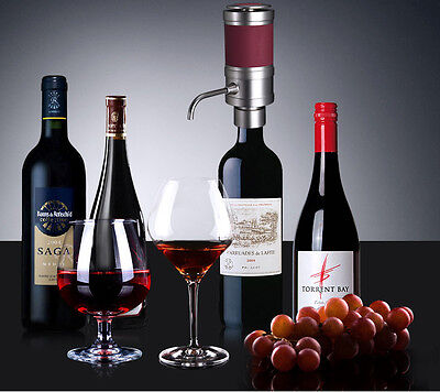 1pc portable red wine electric aerator w pour opener home  dinning bar accessory