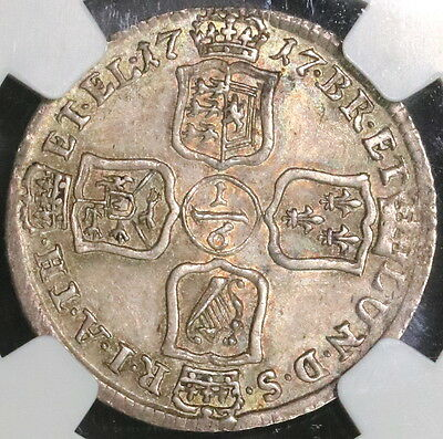 1717 NGC AU 55 Brunswick Luneburg 1/6 Thaler GERMANY Coin POP 1/1 (16112110C)