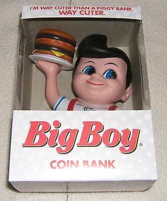 Collectible Bobs Big Boy Plastic Bank 2012 Edition Snap Cap On Bottom