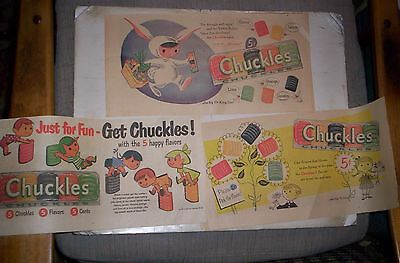Chuckles Candy 3 1950's Sunday Comic ads
