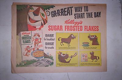 Tony the Tiger Kellogg's Sugar Frosted Flakes  3 1950's Sunday Comic ads