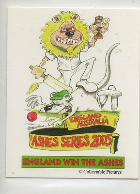 #1 England V Australia Ashes Series 2005  Cricket Collector Card