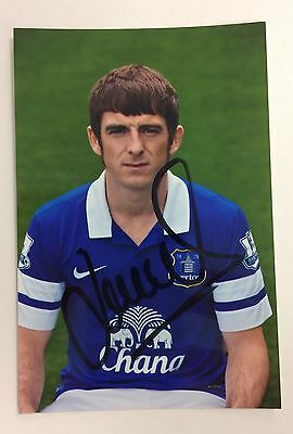 A 6 x 4 inch photo personally signed by Leighton Baines when playing for Everton