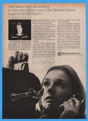 1966 Western Electric Bell System Pay Phone Telephone Woman Deposit Coin Ad