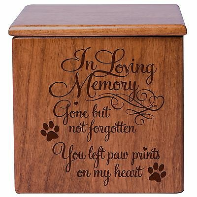 Cremation Urn For Pet Ashes Small Wooden Dog Cat  Memorial Keepsake Box