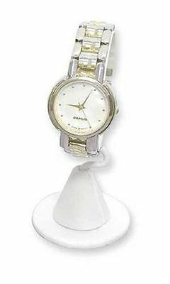 White Faux Leather Vertical Watch Stand (10/Pack) - STOR-55345