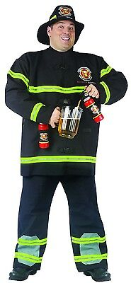 Fill Er' Up Fireman Costume Adult Plus Plus Size