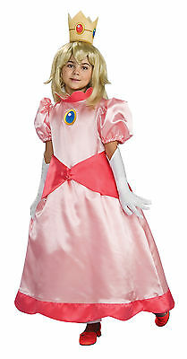 Super Mario Brothers Deluxe Princess Peach Costume Child Large
