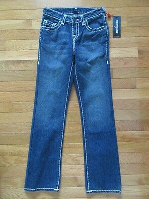 True Religion Boys Ricky Straight Fit Natural Super T Jeans, Nwt$129, 12