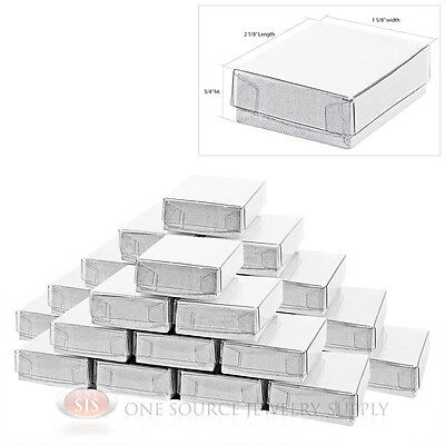 "25 White Swirl Clear View Top Jewelry Gift Boxes 2 1/8"" x 1 5/8"" Charm Ring Box"