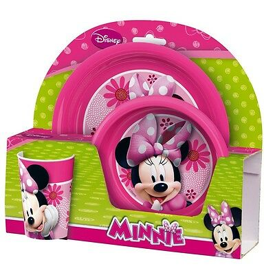 Minnie Mouse - Children Mealtime Set - Dinnerware Set Breakfast (3 pcs)
