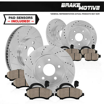 Front 288 mm and Rear 245 mm Brake Rotors & Ceramic Pads AUDI A6 100 2WD QUATTRO