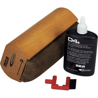 RCA Discwasher D4+ Vinyl Record Care SYSTEM Dust Brush Cleaning Pad New & Sealed