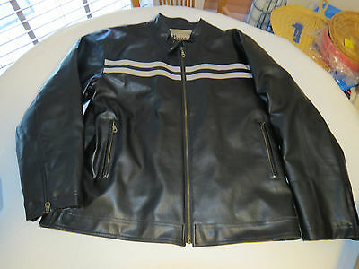 Mens XL Surplus Apparel Military Academy Parts jacket black grey bomber EUC