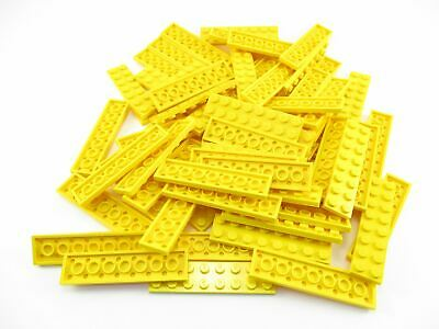 LEGO Yellow Plate 2x8 Lot of 50 Parts Pieces 3034