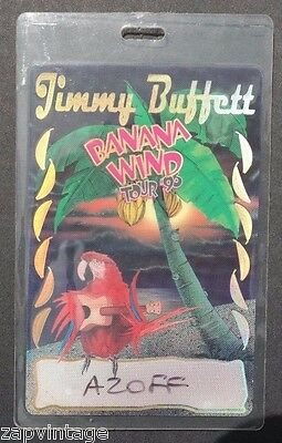 Vtg All Access Backstage Pass / VIP Laminate - 1996 Jimmy Buffett (1 of 50)