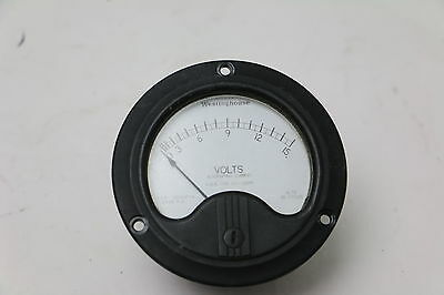 NOS Westinghouse 1205637-A NA-35 0-15 AC Volt Meter 25-125 Cycles F.S.=100 M.A.