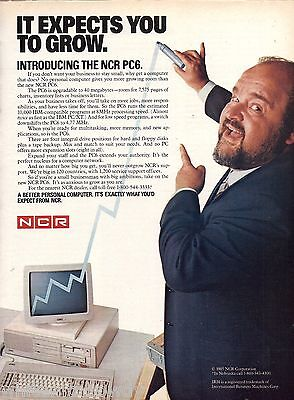 1985 NCR PC6 Computer Print AD Collectible Vintage ADVERTISING