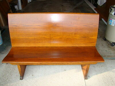 "50"" wide antique oak church pew/ lfrom a Chicago church/ 100 years old"