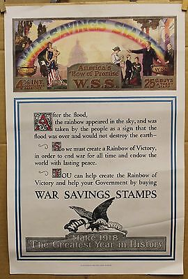 War Savings Stamps 1918 12 1/2 X 18 1/2 original WWI poster