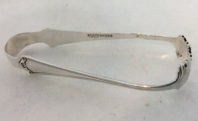 Antique Baker Manchester Sterling Silver Sugar Tongs