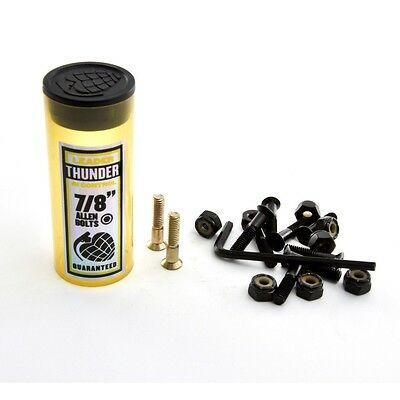 "Thunder Bolts 7/8"" Inch Black GOLD Allen Key Skateboard Trucks Hardware"