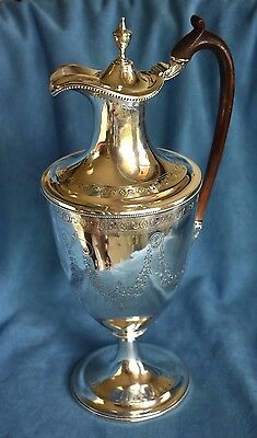Antique 1788 OGLE CASTLE HENRY CHAWNER Sterling Silver Claret Wine Pitcher Ewer